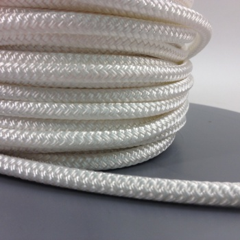 8mm Braided Polyester - Plain White