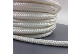 6mm Braided Polyester - Plain White