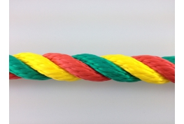 14mm Multi Colour Polypropylene Rope
