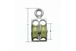 Small Pulley - 2mm to 5mm Double Wheel